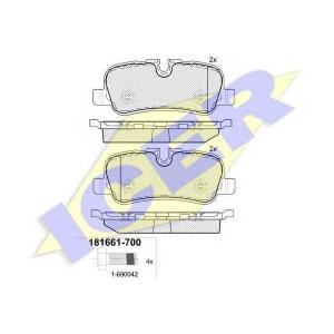 ICER 181661700 Тормозные колодки дисковые