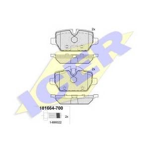 Комплект тормозных колодок, дисковый тормоз 181664700 icer - BMW 3 Touring (E91) универсал 318 d