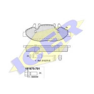 ICER 181675701 Тормозные колодки дисковые