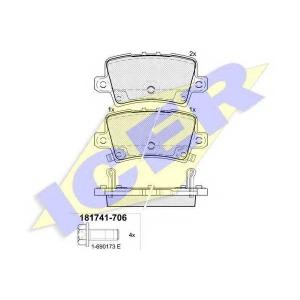 ICER 181741706 Тормозные колодки дисковые