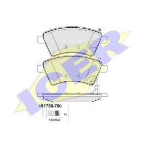 ICER 181758700 Тормозные колодки дисковые