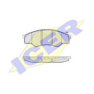 Комплект тормозных колодок, дисковый тормоз 181824 icer - TOYOTA HILUX III пикап (KUN2_, KUN_, KUN1_, TGN_, LAN_, GGN_) пикап 2.5 D 4x4