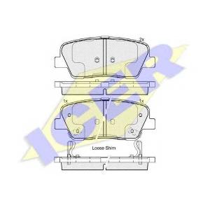 ICER 181954 Комплект тормозных колодок, дисковый тормоз Хюндай