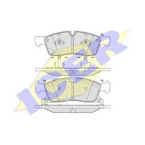 ICER 181988 Комплект тормозных колодок, дисковый тормоз Додж Дюранго