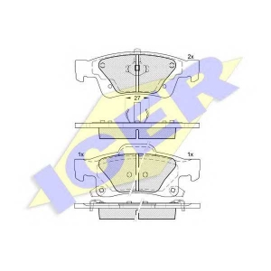 ICER 181989 Комплект тормозных колодок, дисковый тормоз Додж Дюранго