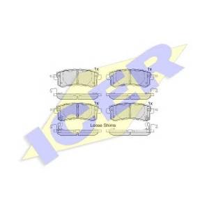 ICER 182052 Комплект тормозных колодок, дисковый тормоз Инфинити Кью-Икс 4