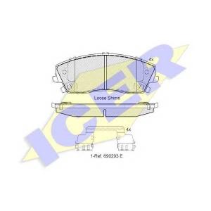 ICER 182067 Комплект тормозных колодок, дисковый тормоз Додж Чарджер
