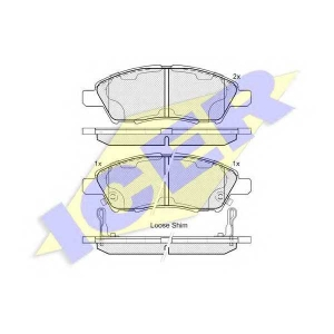 ICER 182073 Колодки тормозные дисковые, комплект