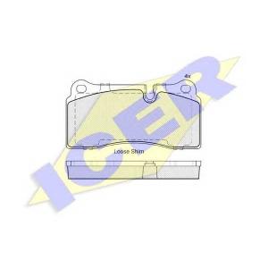 ICER 182121 Комплект тормозных колодок, дисковый тормоз Ауди Р8