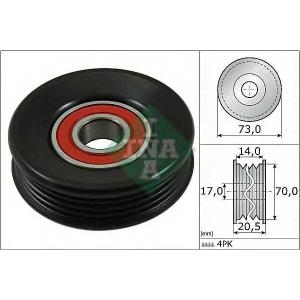 Натяжной ролик, поликлиновой  ремень 531085310 ina - SUBARU IMPREZA седан (GC) седан 1.6 i 4WD