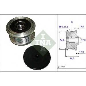 INA 535 0114 10 Шкив генератора с обгонной муфтой (пр-во Ina)