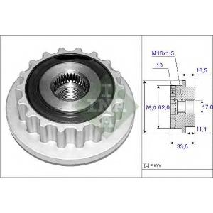 INA 535011810 Обгонная муфта генератора VW T5 2.5TDI 03-
