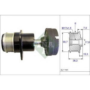Механизм свободного хода генератора 535015710 luk - FORD FOCUS (DAW, DBW) Наклонная задняя часть 1.8 TDCi