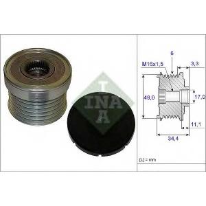 INA 535 0183 10 Шкив генератора с обгонной муфтой (Ina)