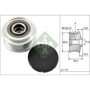 INA 535018410 Шків генератора інерційний