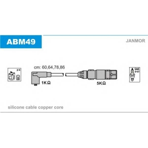 JANMOR ABM49 Провод зажигания (пр-во Janmor)
