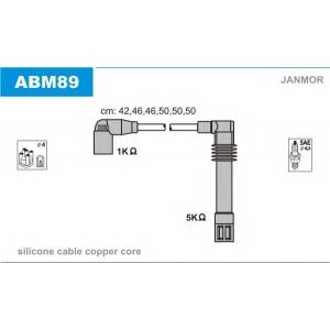 JANMOR ABM89 Провода высоковольтные, комплект  AUDI A4/A6 2.4-2.8 V6 01.95-01.05;VW PASSAT 2.