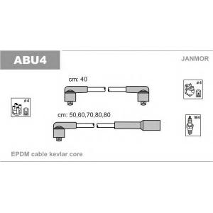 Комплект проводов зажигания abu4 janmor - AUDI 100 (44, 44Q, C3) седан 1.8 KAT