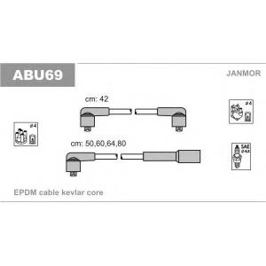 Комплект высоковольтных проводов abu69 janmor -