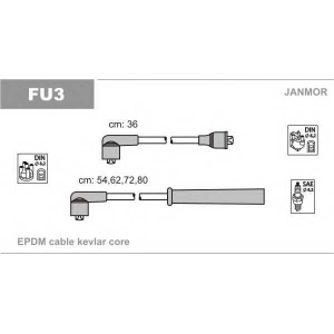 К-кт В-В проводів Ford Escort 1,1.1,3.1,4-1,4I.1,6 fu3 janmor -