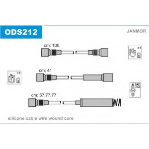 JANMOR ODS212 Провода в/в Opel Omega 1,8/2,0 штирева кришка