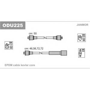 JANMOR ODU225 Комплект проводов зажигания Opel Ascona, Kadett 1.6