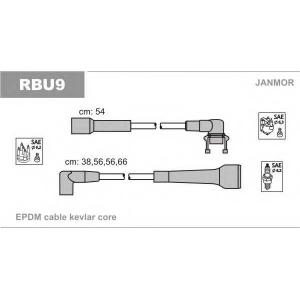 Комплект проводов зажигания rbu9 janmor - RENAULT SUPER 5 (B/C40_) Наклонная задняя часть 1.7 i (C409)