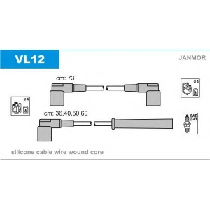 JANMOR VL12 Ккомплект проводов зажигания