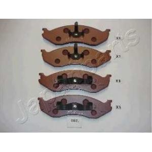 Комплект тормозных колодок, дисковый тормоз pa057af japanparts - JEEP WRANGLER I (YJ, SJ_) вездеход закрытый 2.5