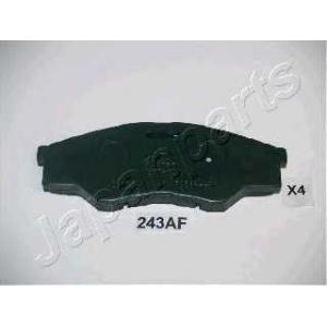 Комплект тормозных колодок, дисковый тормоз pa243af japanparts - TOYOTA HILUX III пикап (KUN2_, KUN_, KUN1_, TGN_, LAN_, GGN_) пикап 2.5 D-4D