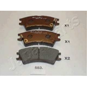 JAPANPARTS PA583AF Комплект тормозных колодок, дисковый тормоз