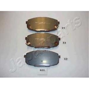 Комплект тормозных колодок, дисковый тормоз pak09af japanparts - KIA CARENS II (FJ) вэн 1.6