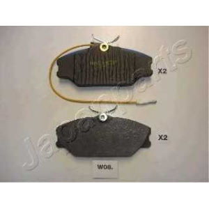 JAPANPARTS PAW08AF Комплект тормозных колодок, дисковый тормоз