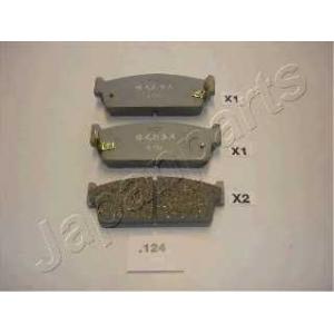 Комплект тормозных колодок, дисковый тормоз pp124af japanparts - NISSAN PRIMERA Traveller (W10) универсал 1.6 i