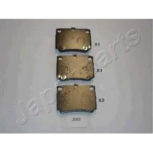Комплект тормозных колодок, дисковый тормоз pp592af japanparts - MITSUBISHI PAJERO SPORT (K90) вездеход закрытый 2.5 TD (K94W)