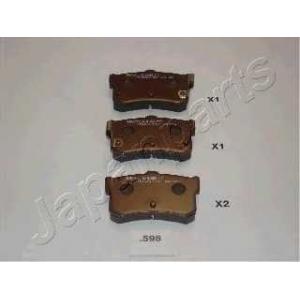 JAPANPARTS PP598AF Комплект тормозных колодок, дисковый тормоз