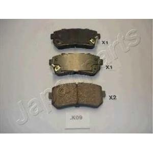 Комплект тормозных колодок, дисковый тормоз ppk09af japanparts - HYUNDAI ix20 (JC) Наклонная задняя часть 1.4