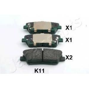 JAPANPARTS PP-K11AF Комплект тормозных колодок, дисковый тормоз Хюндай