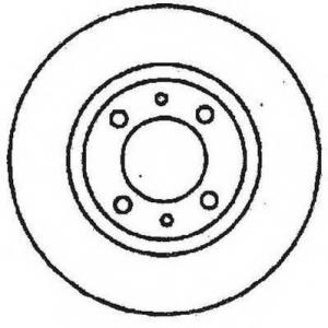 JURID 561326JC Тормозной диск Фиат Премио