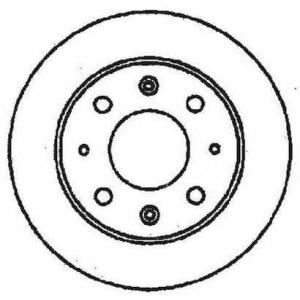 JURID 561384J Тормозной диск Акура