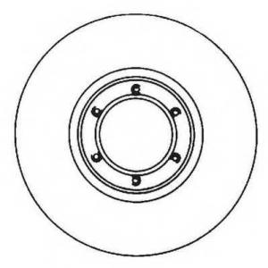 JURID 561643JC Тормозной диск Исузу Импульс