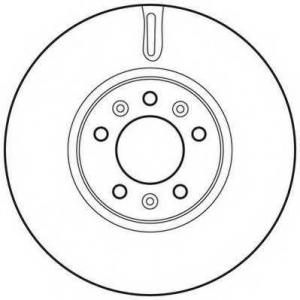 JURID 562622JC Тормозной диск (пр-во Jurid)