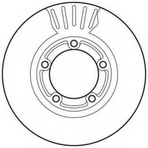 JURID 562800JC Тормозной диск Хюндай Портер