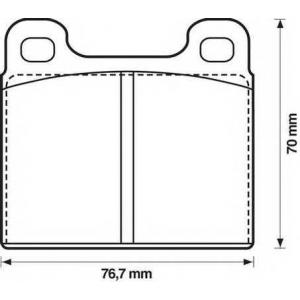 JURID 571236D Колодки дискового тормоза (пр-во Jurid)
