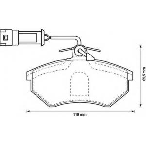 571356d juridbendix Комплект тормозных колодок, дисковый тормоз AUDI 80 седан 1.8 S quattro