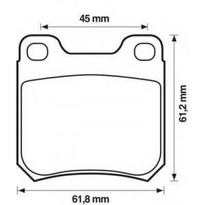 571389j juridbendix Комплект тормозных колодок, дисковый тормоз OPEL OMEGA седан 1.8