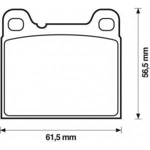 JURID 571417J Комплект тормозных колодок, дисковый тормоз Опель Кадет