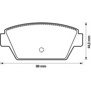 JURID 572159J Комплект тормозных колодок, дисковый тормоз Исузу Миди