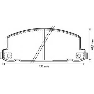 JURID 572258J Комплект тормозных колодок, дисковый тормоз Исузу Мидиан