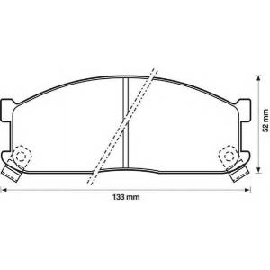 JURID 572332J Комплект тормозных колодок, дисковый тормоз Киа Беста